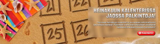 Unibetin kesäkalenteri - mitkä tarjoukset!